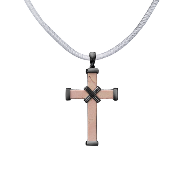 The Eternity Minimalist Vermeil Cross - Black gold - Medium