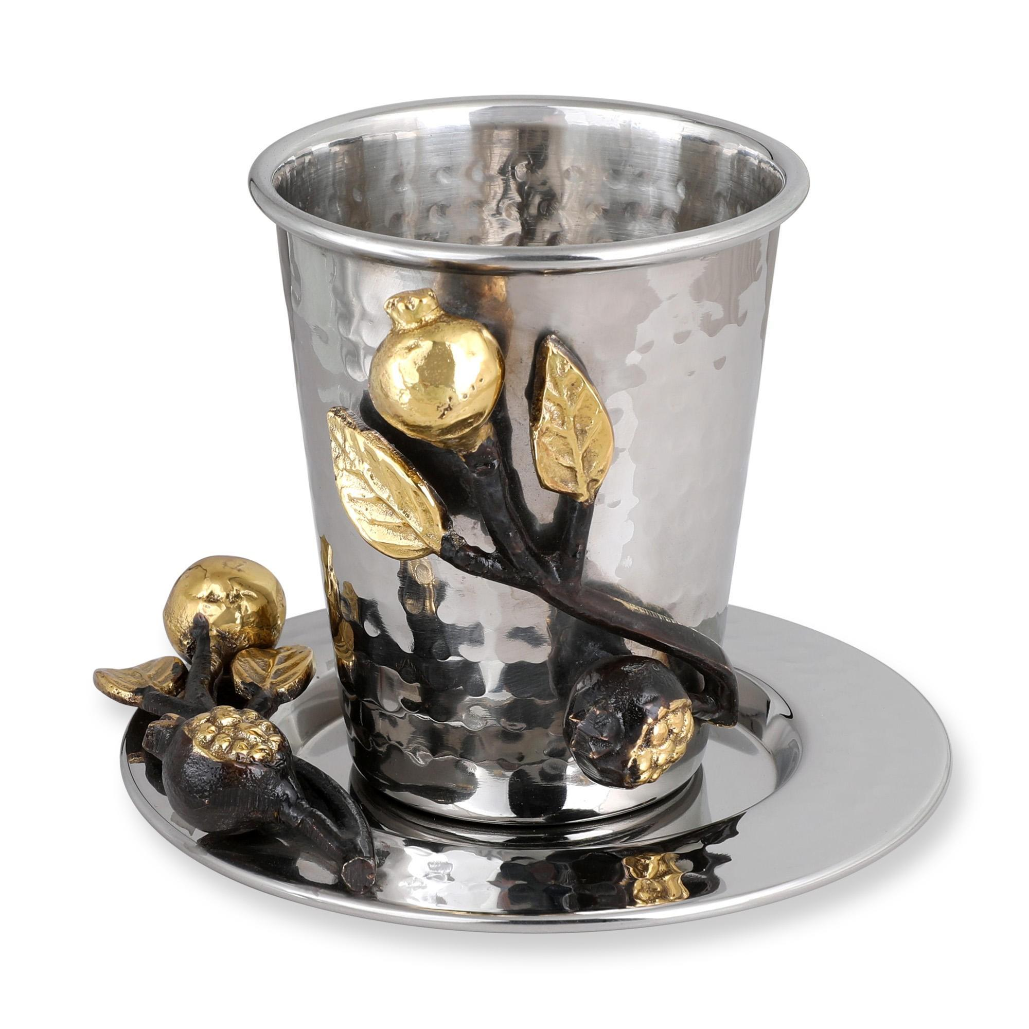 Pomegranate Kiddush Cup Stainless Steel