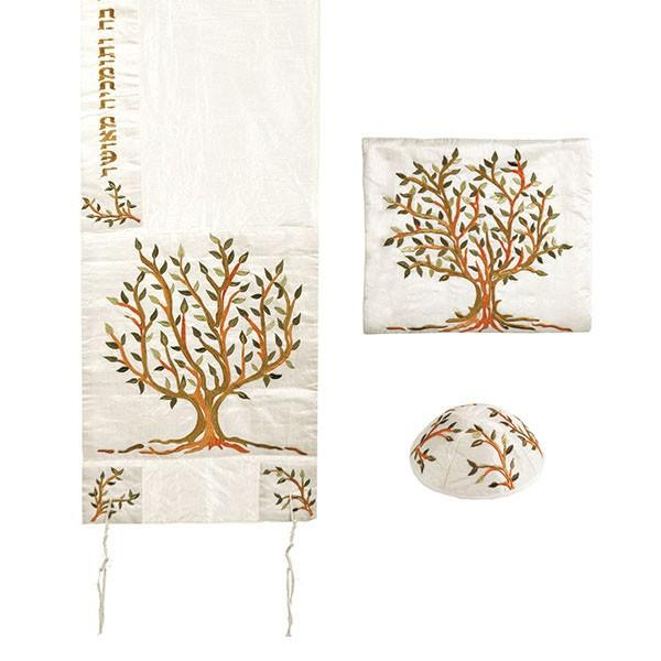 Tree of Life Tallit Set Polysilk