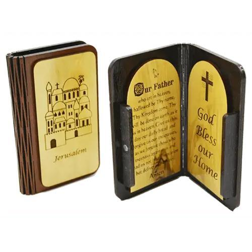 Wooden Jerusalem Prayer Book